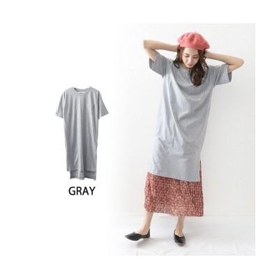 (OWNCODE/オウンコード)コットン素材Tシャツワンピース/レディース グレージュ