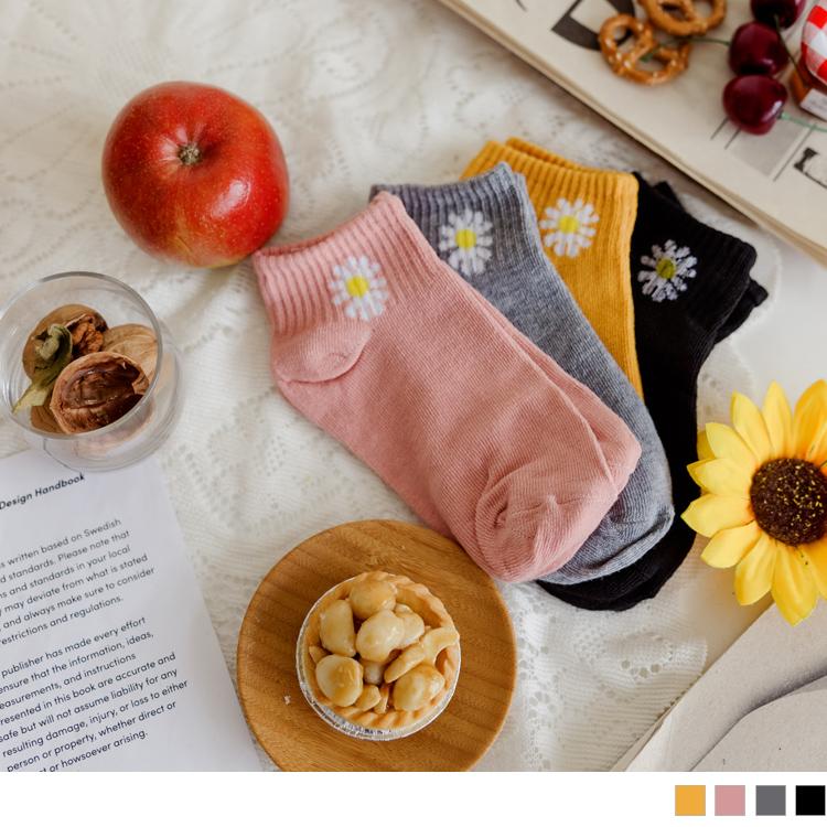 花朵繽紛短襪/踝襪
