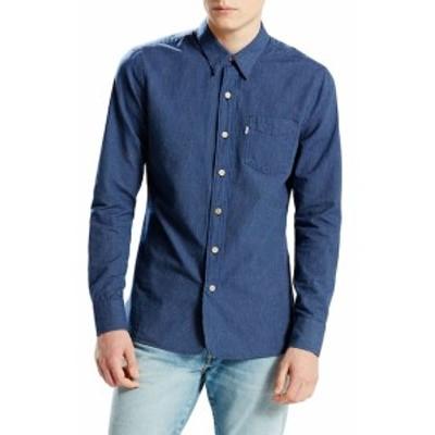 リーバイス Men Clothing Selvedge Sunset 1-Pocket Striped Sportshirt