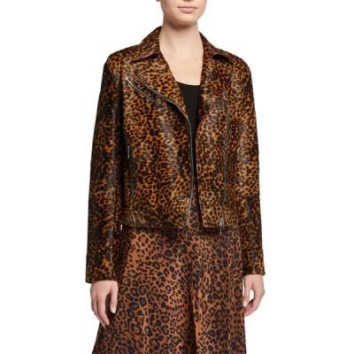 ラファイエットワンフォーエイト レディース ジャケット・ブルゾン アウター Bernice Cheetah Calf Hair Moto Jacket