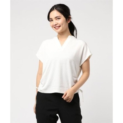 tシャツ Tシャツ ジョーゼットスキッパーシャツ