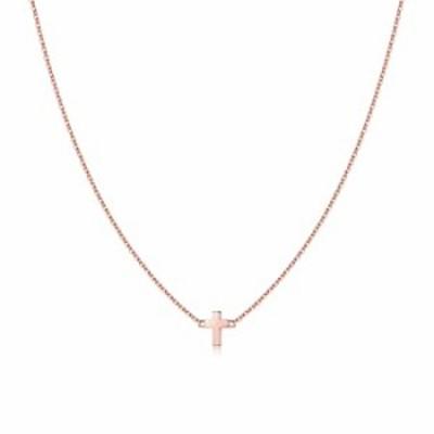 ネックレス Turandoss Cross Pendant Necklaces for Women Pendant Chain 16 Inch Rose Gold