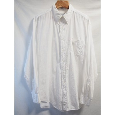 Huntington/ホワイトコットンボタンダウンシャツ/XLサイズ相当/送料無料/USA製