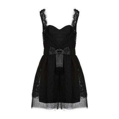 レリッシュ RELISH ミニワンピース&ドレス ブラック L コットン 65% / ナイロン 35% ミニワンピース&ドレス