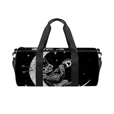 Sport Duffel Bag Moon skull Gym Bag Kids Travel Bag Weekend Bag