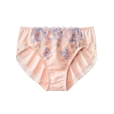 やや深ばき丈ペアショーツ(ふわり花柄)(トリンプ)(L) スタンダードショーツ, Panties