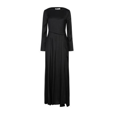 セドリック シャルリエ CEDRIC CHARLIER ロングワンピース&ドレス ブラック 44 レーヨン 100% ロングワンピース&ドレス
