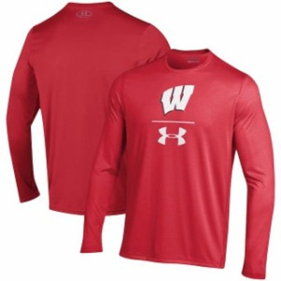 Under Armour アンダー アーマー スポーツ用品  Under Armour Wisconsin Badgers Red Sideline Stack Performance Long Sl