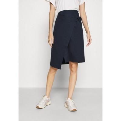 ラコステ スカート レディース ボトムス JUPE FEMME - Wrap skirt - marine