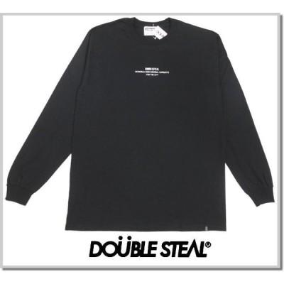 ダブルスティール DOUBLE STEAL 度詰め天竺ウルトラコットン ロンT 991-12201-09BLACK 長袖Tシャツ カットソー