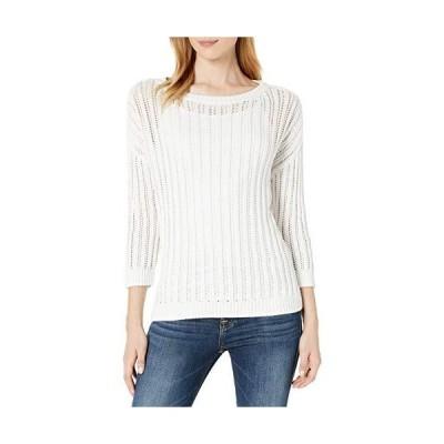並行輸入品Tribal レディース 3/4 SLV セーター US サイズ: Small カラー: ホワイト