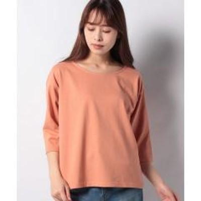 MELROSE Claire(メルローズ クレール)天竺ボートネックTシャツ