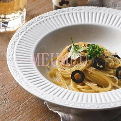 食器 キッチン雑貨 カトラリー お皿 プレート ギフト プレゼント 深皿 丸型 ディナーディッシュ 使いやすい ホワイトナチュラル