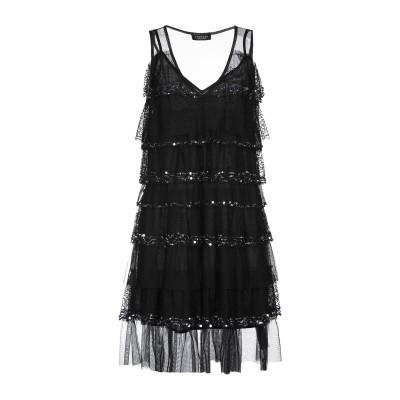 ツインセット シモーナ バルビエリ TWINSET ミニワンピース&ドレス ブラック 38 100% ポリエステル ミニワンピース&ドレス