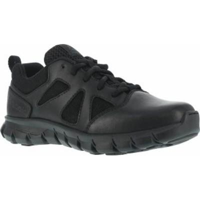 リーボック メンズ スニーカー シューズ Men's Reebok Work RB8105 Sublite Cushion Tactical Soft Toe Oxford Black Leather/Ballistic