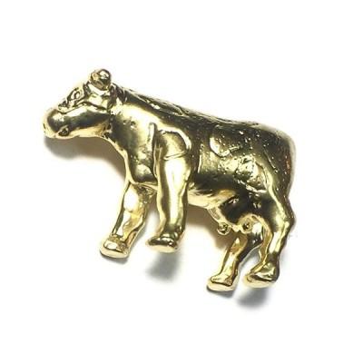 ピンブローチ ブローチ メンズ レディース ピンズ ピンバッジ タックピン ハットピン ウシ 牛 アニマル 動物 真鍮