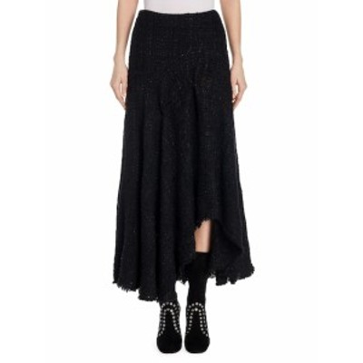 アレキサンダーマックイーン レディース スカート Tweed Asymmetrical Silk Skirt