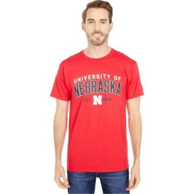 チャンピオン Champion College メンズ Tシャツ トップス Nebraska Cornhuskers Jersey Tee Scarlet