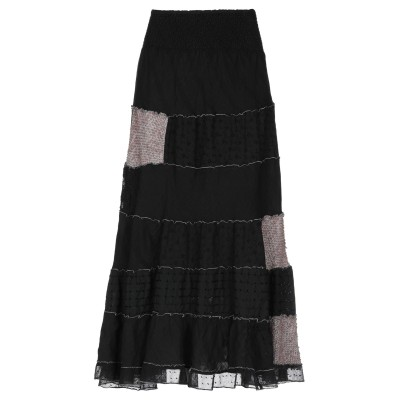 ジャンバ GIAMBA 7分丈スカート ブラック S コットン 50% / アクリル 50% 7分丈スカート