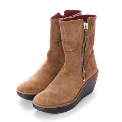 ヨーロッパコンフォートシューズ EU Comfort Shoes FLYLONDON ショートブーツ(500.668) (ブラウン)