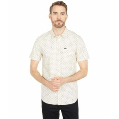 ボルコム メンズ シャツ トップス Hallock Short Sleeve Shirt White Flash