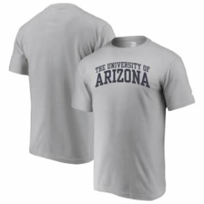 Alta Gracia アルタ グラシア スポーツ用品  Alta Gracia (Fair Trade) Arizona Wildcats Heathered Gray Arched Wordmark T-Shirt