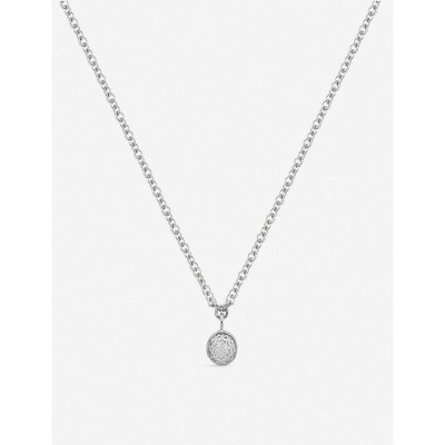 モニカ ヴィナダー MONICA VINADER レディース ネックレス ジュエリー・アクセサリー Fiji Tiny sterling silver and diamond necklace Silver