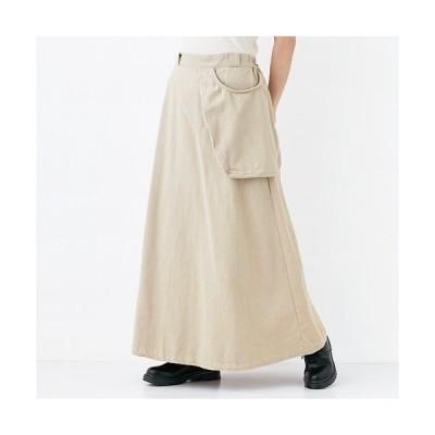 入手困難!【merlot メルロー】綿ツイルポケット ロングスカート