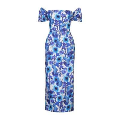 BORGO DE NOR 7分丈ワンピース・ドレス ブルー 8 コットン 100% 7分丈ワンピース・ドレス
