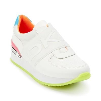 ダナ キャラン ニューヨーク スニーカー シューズ レディース Marli Slip-On Sneakers White/neon Pink