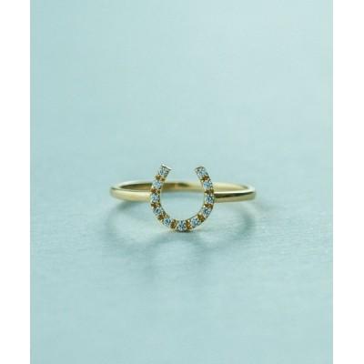ete / K18YG ダイヤモンド リング「ホースシュー」 WOMEN アクセサリー > リング