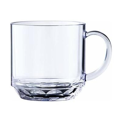 石川樹脂工業 マグカップ クリスタルマグ クリア 200ml 7 x 9.4 x 7.1 cm 割れないグラス トライタン 食洗機対応 耐