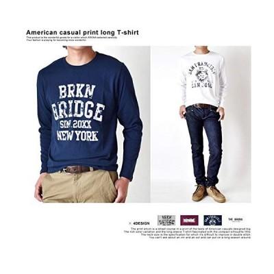 (アローナ) ARONA アメカジ カレッジプリント ロンT 長袖 Tシャツ メンズ /M1.5/ B7ブラック L