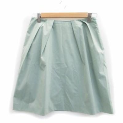 【中古】スピック&スパン Spick&Span スカート フレア ひざ丈 38 ライトグリーン 黄緑 /MS13 レディース