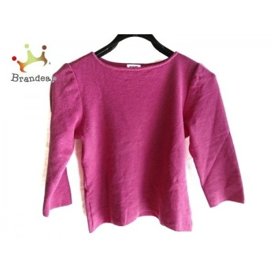 フォクシー FOXEY 七分袖セーター サイズ40 M レディース 美品 - - ピンク クルーネック     スペシャル特価 20210115