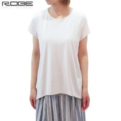 BLUE FRONCE(ブルーフォンセ)by ROBE フレンチスリーブカットソー Tシャツ 日本製 半袖 レディース