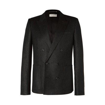SAINT LAURENT テーラードジャケット ブラック 52 ウール 97% / キュプラ 1% / 金属繊維 1% / ナイロン 1% テーラ