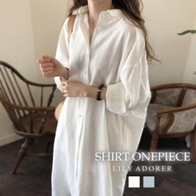 【40%OFF】シャツ ワンピース ロング丈 シャツ ワンピース 大きいサイズ  羽織シャツ シャツ レディース ワンピース レディース