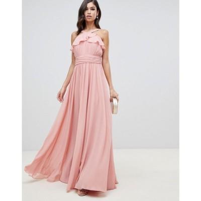 フォーエバーユニーク Forever Unique レディース ワンピース ワンピース・ドレス halter neck maxi dress Pink