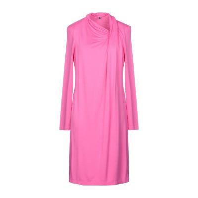EUROPEAN CULTURE ミニワンピース&ドレス ピンク S 96% レーヨン 4% ポリウレタン® ミニワンピース&ドレス
