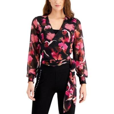 バースリー Bar III レディース トップス Floral-Print Wrap Top Murano Blooms
