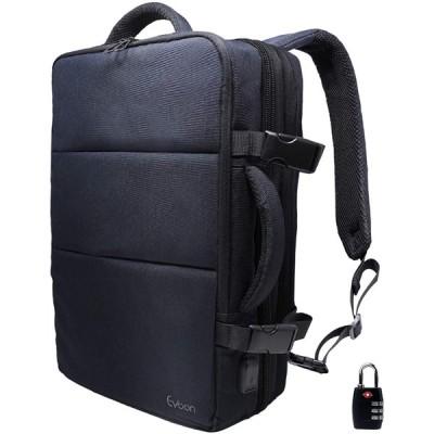 Evoon リュック メンズ ビジネスリュック バックパック リュックサック 大容量 旅行バック 防水 ビジネス 多機能 撥水加工 USB 盗難防止