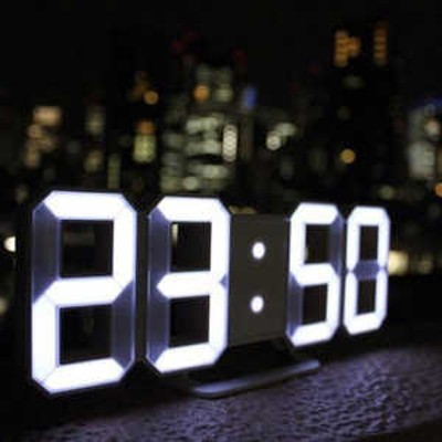 日本ポステック LEDデジタル時計 3Dデザイン TriClock ホワイト White TRC-WH