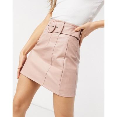 グラマラス Glamorous レディース ミニスカート スカート Pu Belted Mini Skirt In Pink ピンク