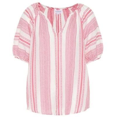 ベルベット グラハム&スペンサー Velvet レディース トップス Halsey cotton-jacquard top Pink