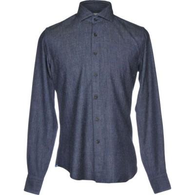 ザカス XACUS メンズ シャツ トップス Solid Color Shirt Blue