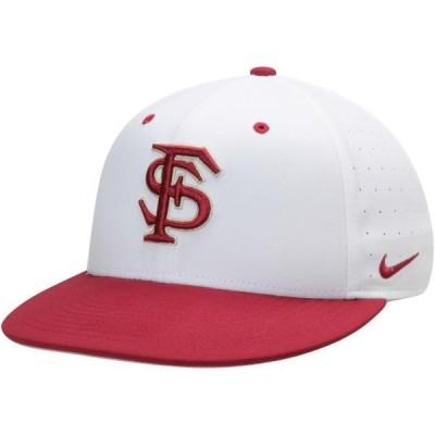 ユニセックス スポーツリーグ アメリカ大学スポーツ Florida State Seminoles Nike Aerobill Performance True Fitted Hat - White