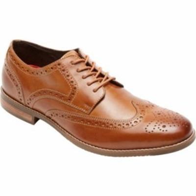 ロックポート 革靴・ビジネスシューズ Style Purpose Wing Tip Oxford Tan Full Grain Leather