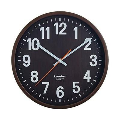 ランデックス(Landex) 掛け時計 アナログ 30cm バーレルタイム ダークブラウン YW9136DBR (ダークブラウン)