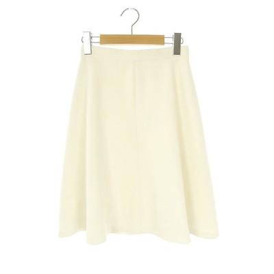 【中古】インディヴィ INDIVI スカート フレア 膝丈 05 アイボリー /HK ■OS レディース 【ベクトル 古着】